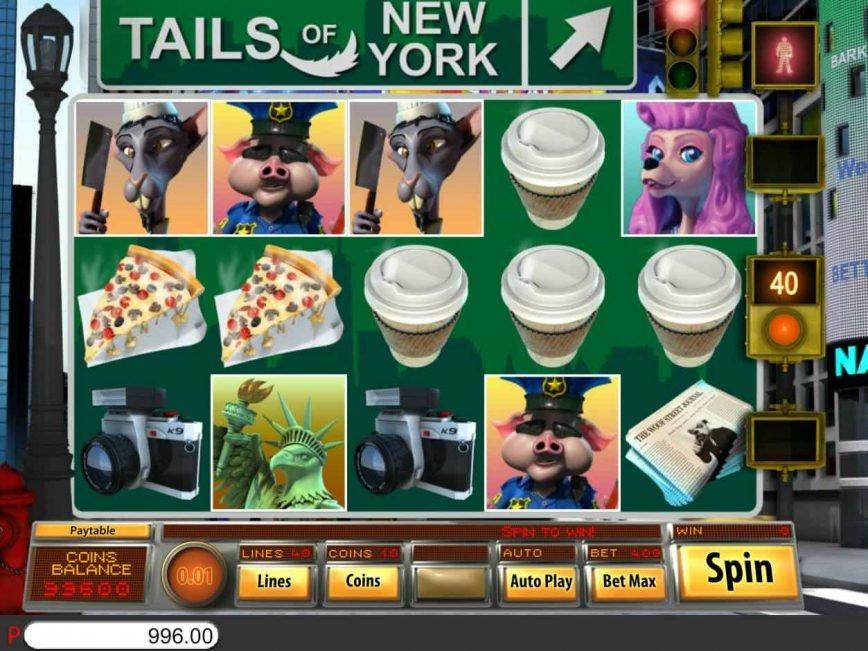 Online casino slot machine Tails of New York