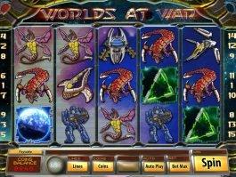 Slot machine Worlds at War no deposit