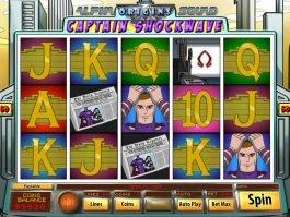 Play online slot game Captain Shockwave
