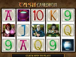 Spin free casino slot game Cash Cauldron