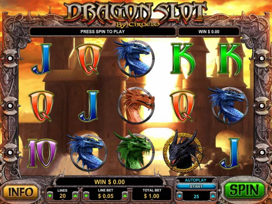No deposit online game Dragon Slot