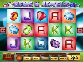 Slot machine Gems n Jewels for fun