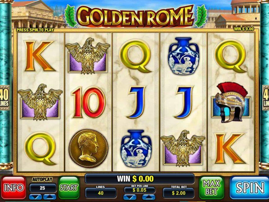 Free casino game Golden Rome no deposit