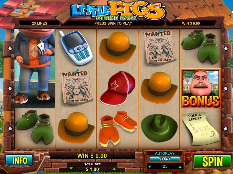 Little Pigs Strike Back Slot Machine