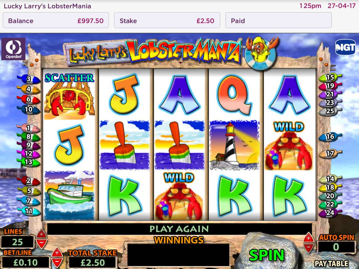 Larry The Lobster Casino Game