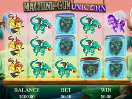 Picture from free slot game Machine-Gun Unicorn