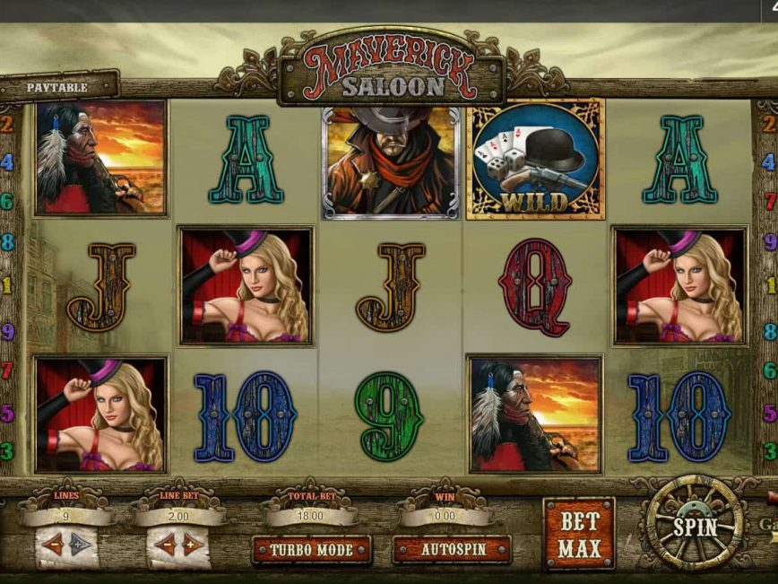 Play slot game Maverick Saloon