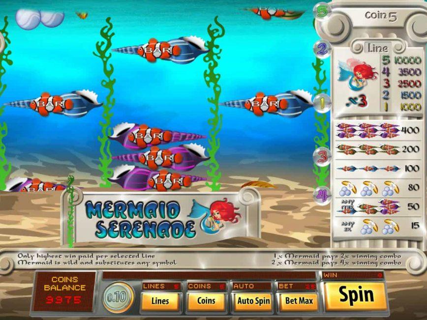 Mermaid Serenade online free casino game