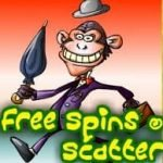 Free spins scatter from online game Monkey Business