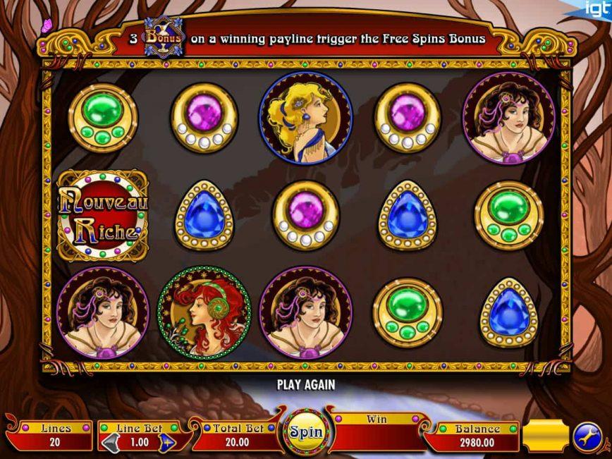 No deposit game Nouveau Riche