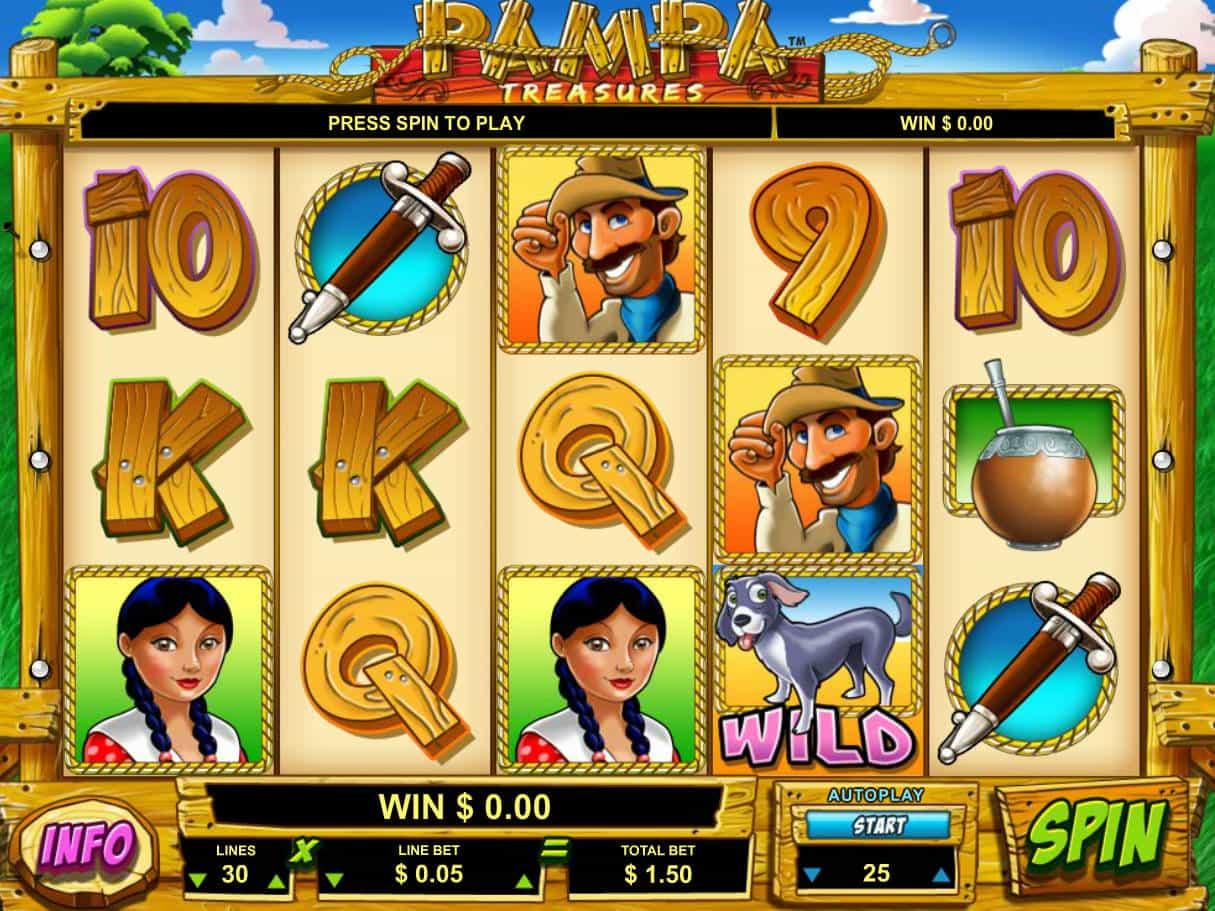 No Download Pampa Treasure Slots With Two Wilds