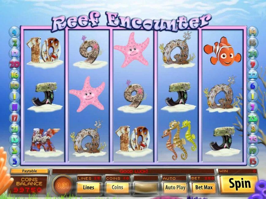 Online casino slot game Reef Encounter