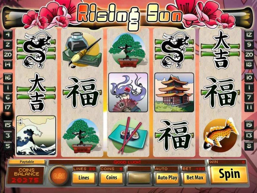 Casino free slot Rising Sun for fun