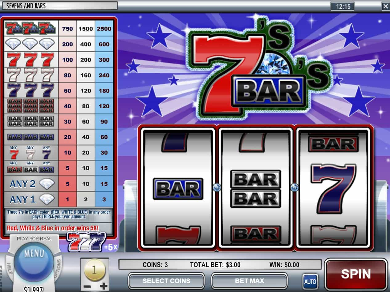 Sevens And Bars Slot Machine Play Free Online Game