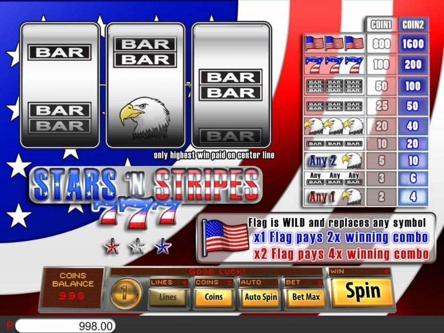 Free casino slot Stars and Stripes no deposit