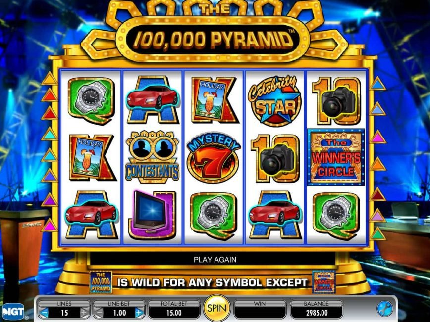 The 100,000 Pyramid free slot for fun