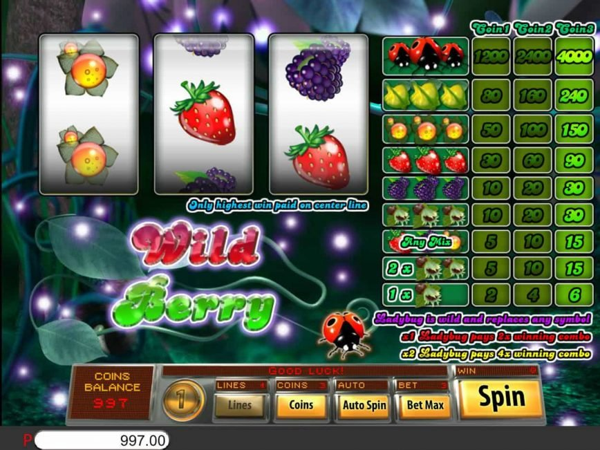 Play slot machine Wild Berry 3-reel