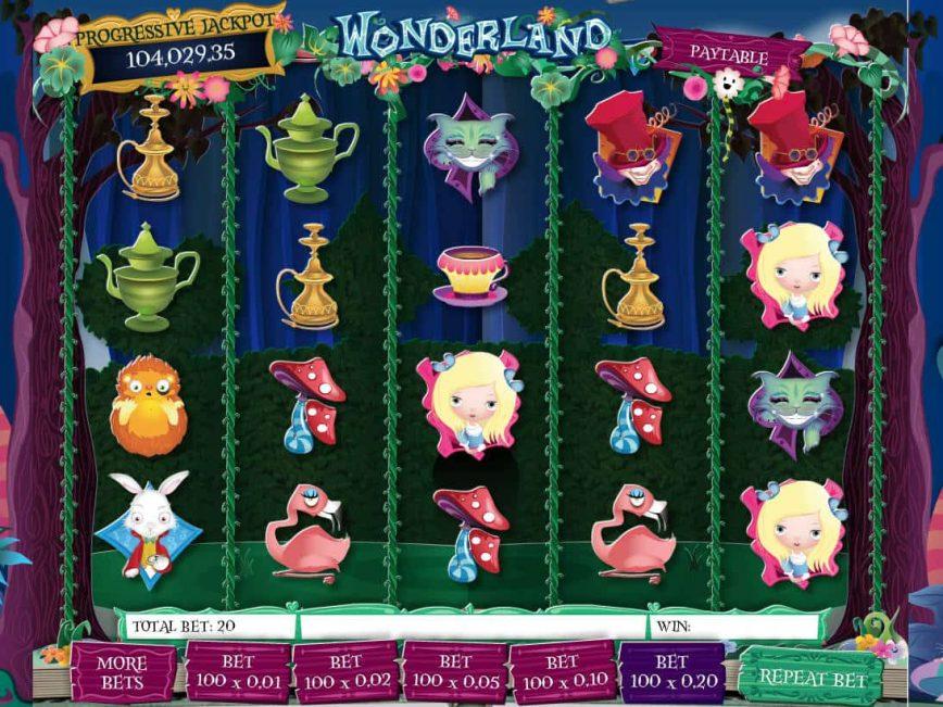 No deposit game Wonderland online
