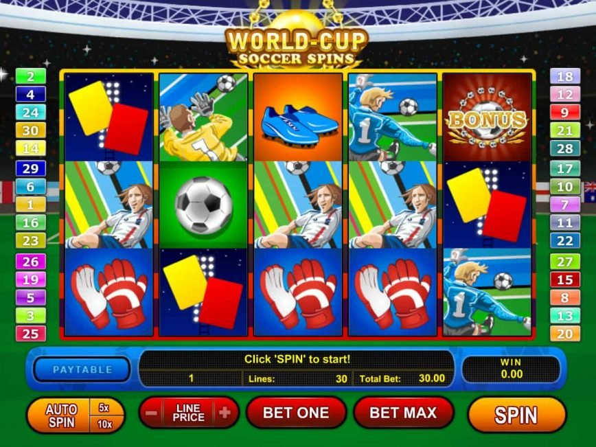 World Cup Soccer Spins casino online slot