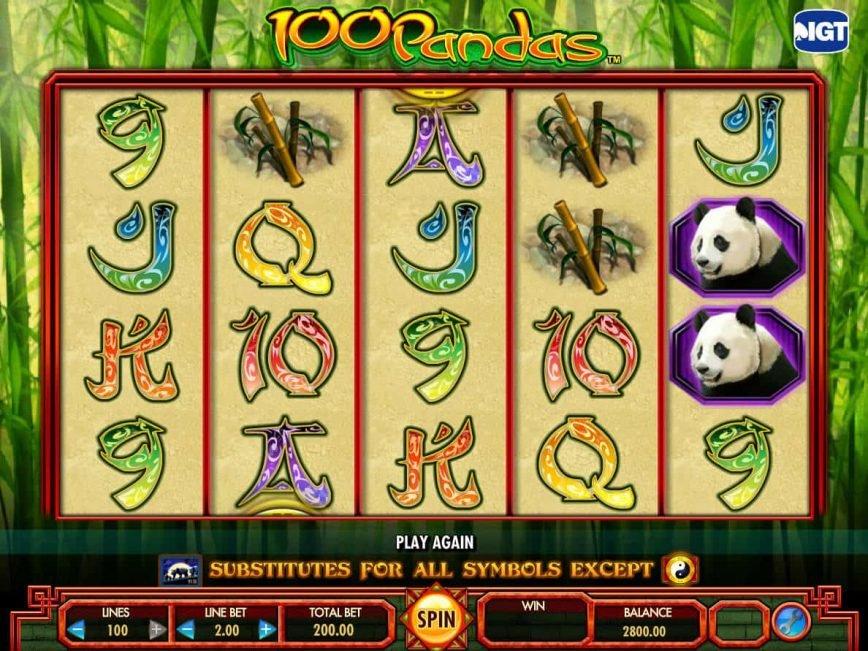 Free slot game 100 Pandas with no registration