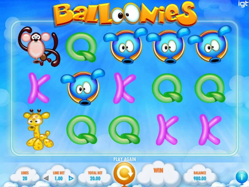 Casino slot machine Balloonies