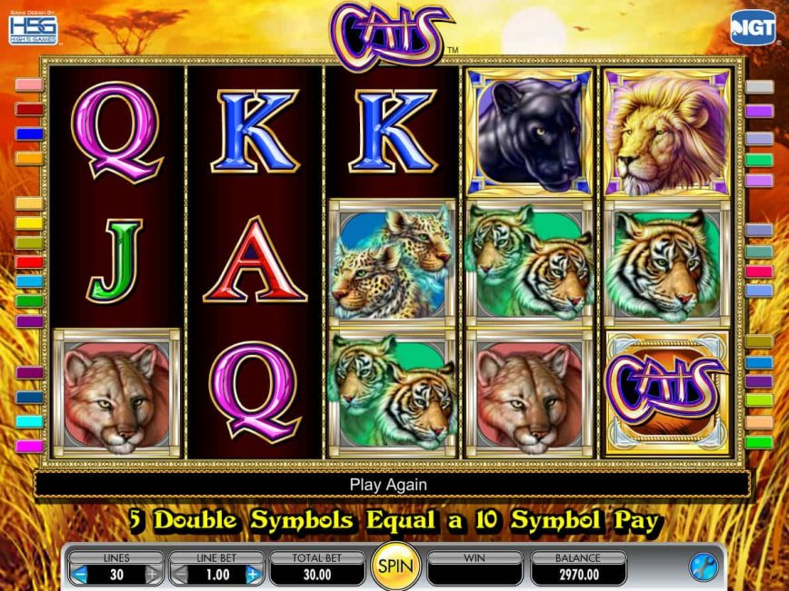 Play free slot machine Cats