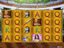 Diamonds of Athens slot machine with no deposit