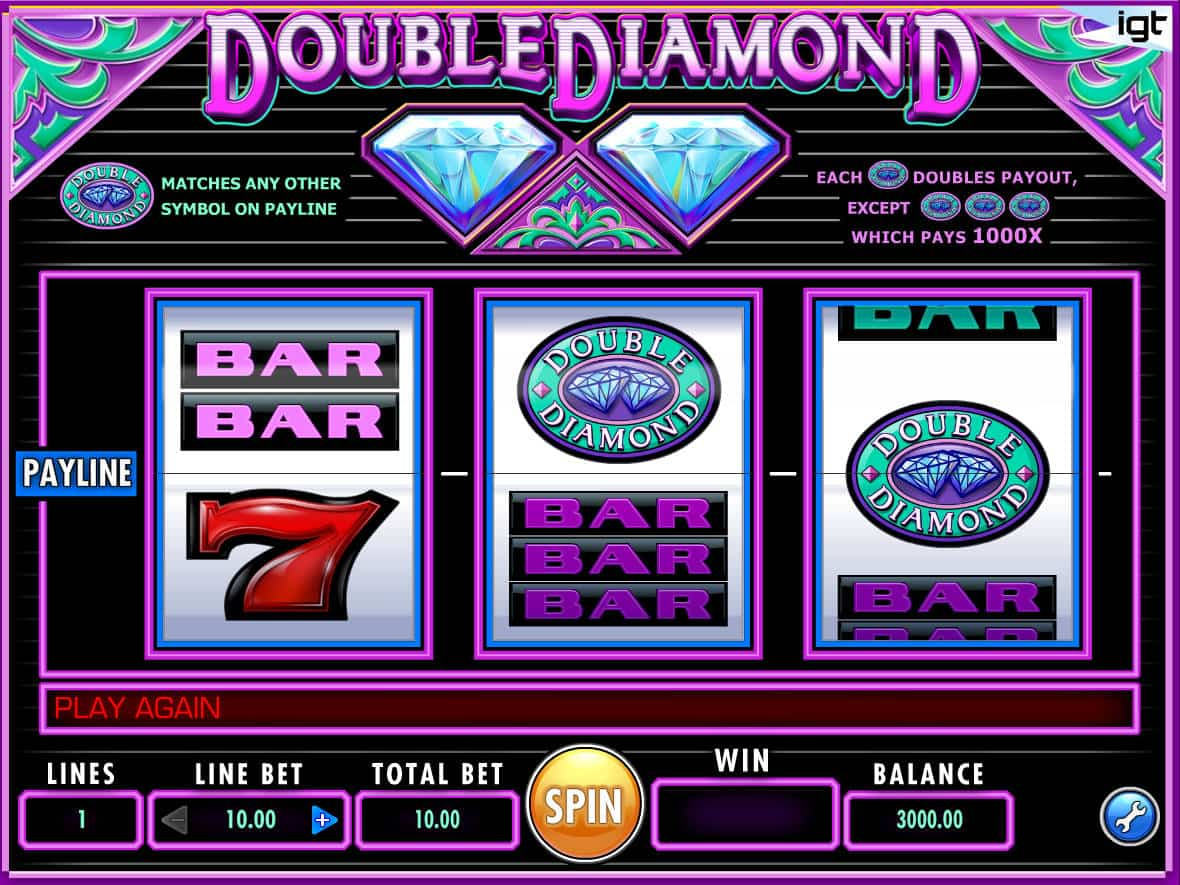 Play Free Double Diamond Slot Machine