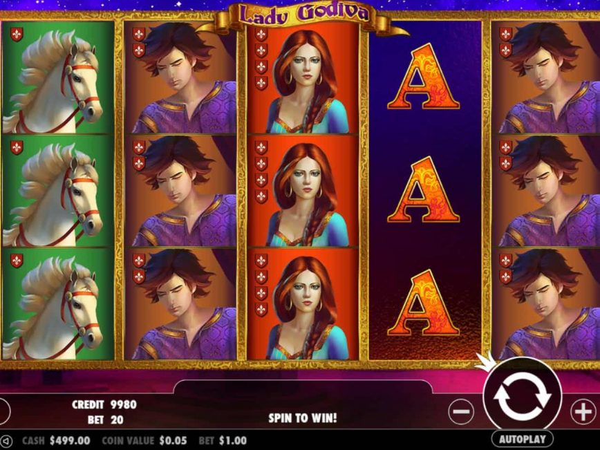 Slot machine for fun Lady Godiva