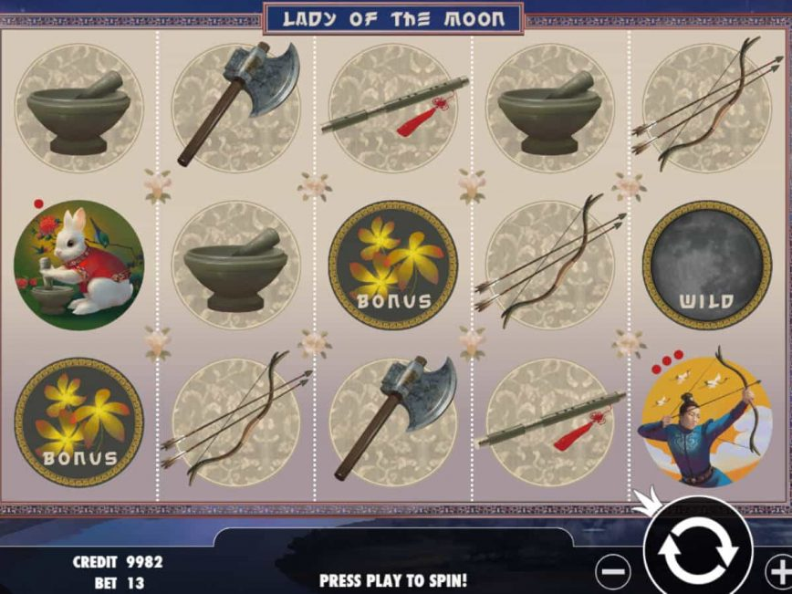 Picture of slot machine online Lady of the Moon