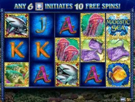 A picture of the casino free slot Majestic Sea
