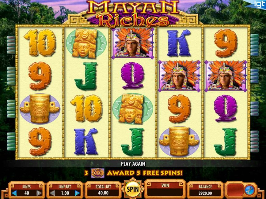 Online slot machine Mayan Riches for fun