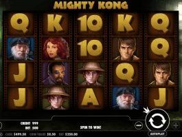 Mighty Kong free slot game with no deposit