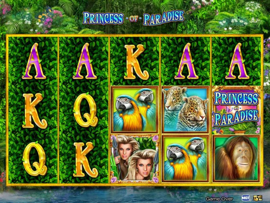Free slot machine Princess of Paradise with no registration