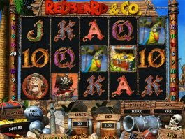 Casino slot machine Redbeard and Co. for fun