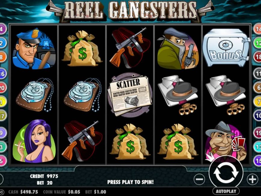 Slot machine Reel Gangsters for fun