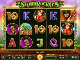 Casino slot game Shamrockers with no registration