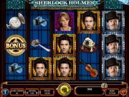 Casino slot game Sherlock Holmes for free