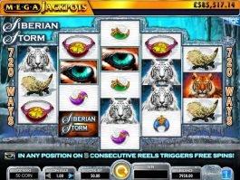 Siberian Storm Mega Jackpots free slot machine