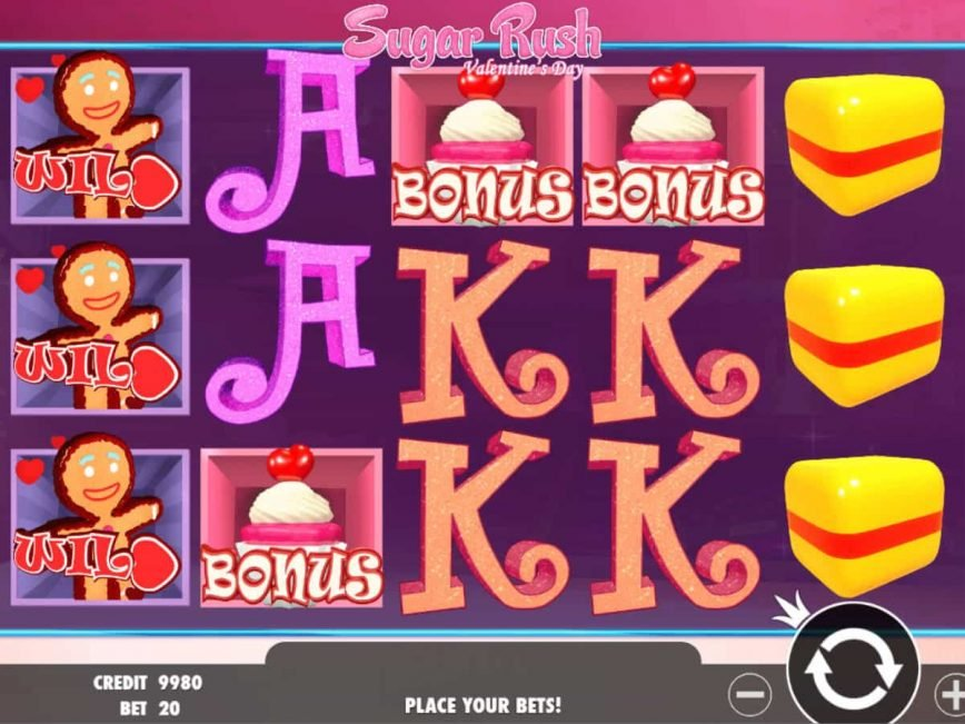 A image of the online free slot Sugar Rush Valentine's Day