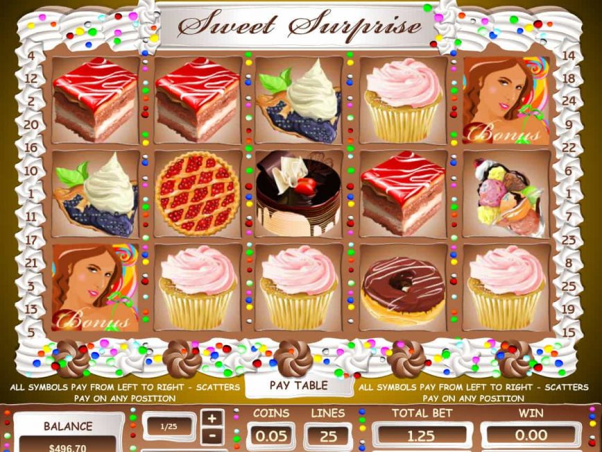 A picture of the casino free slot Sweet Surprise