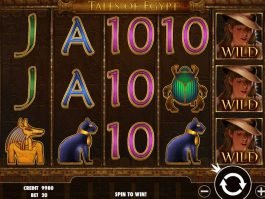 A picture of the casino slot game Tales of Egypt