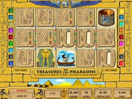 Slot machine Treasures of the Pharaohs online