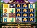 A picture of the free slot game Wolf Run online