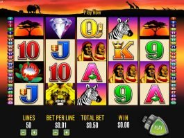 Free online casino slot machine 50 Lions