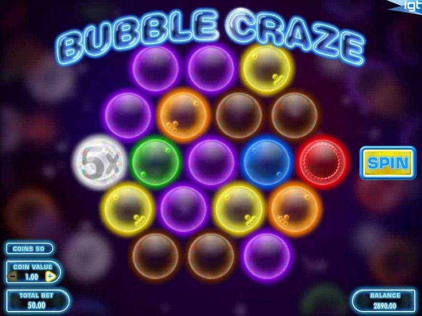 Casino slot machine Bubble Craze