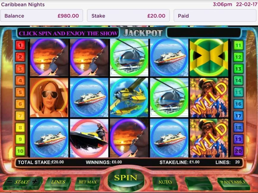 Play casino free game Caribbean Nights with no deposit