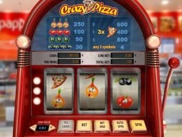 A picture of the online free slot Crazy Pizza