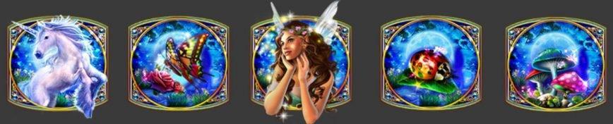 Símbolos especiales de la tragaperras gratis Crystal Forest