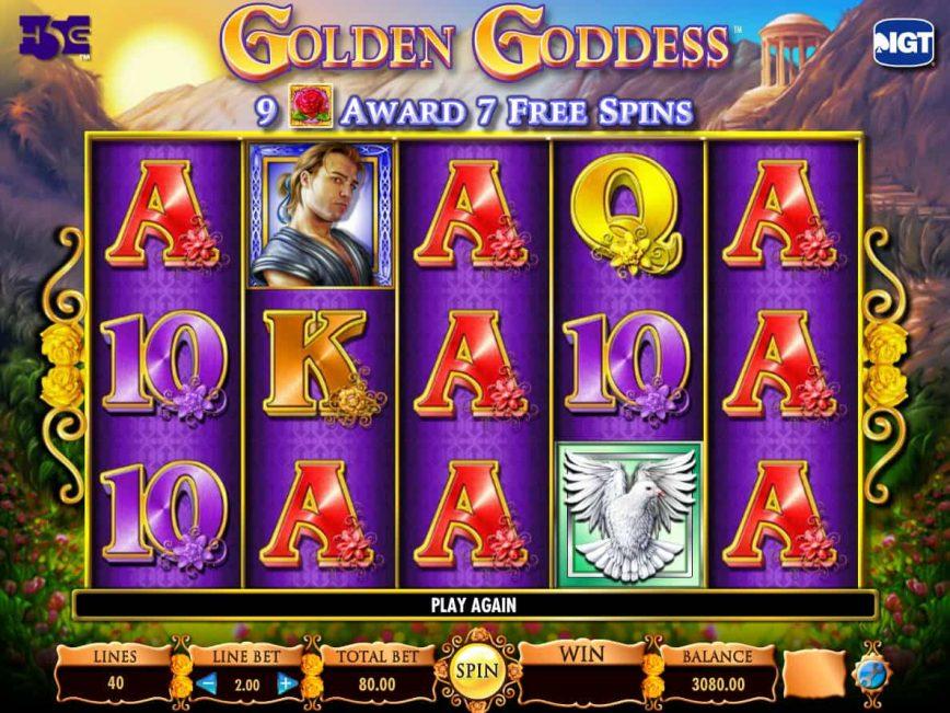 Play free slot game Golden Goddess for free